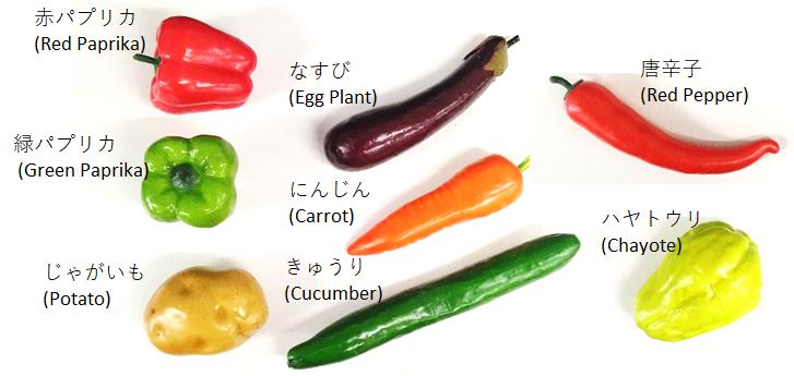 ピッキングデモで使用した野菜